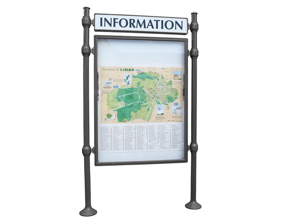 Cityinformationssysteme Grundmodul T 75Mm Ohne Titelleiste