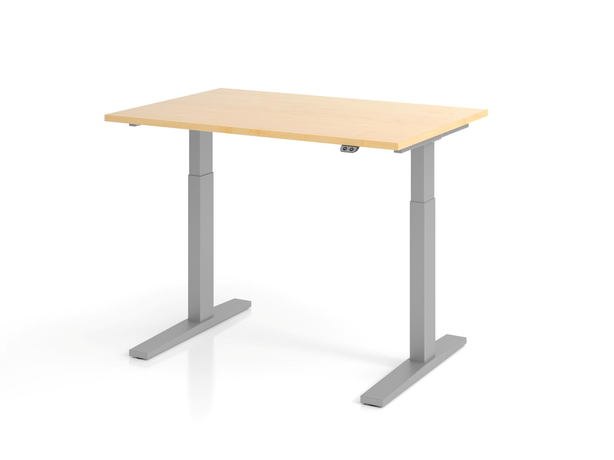 Sitz-Steh-Schreibtisch el.120x80cm Ahorn
