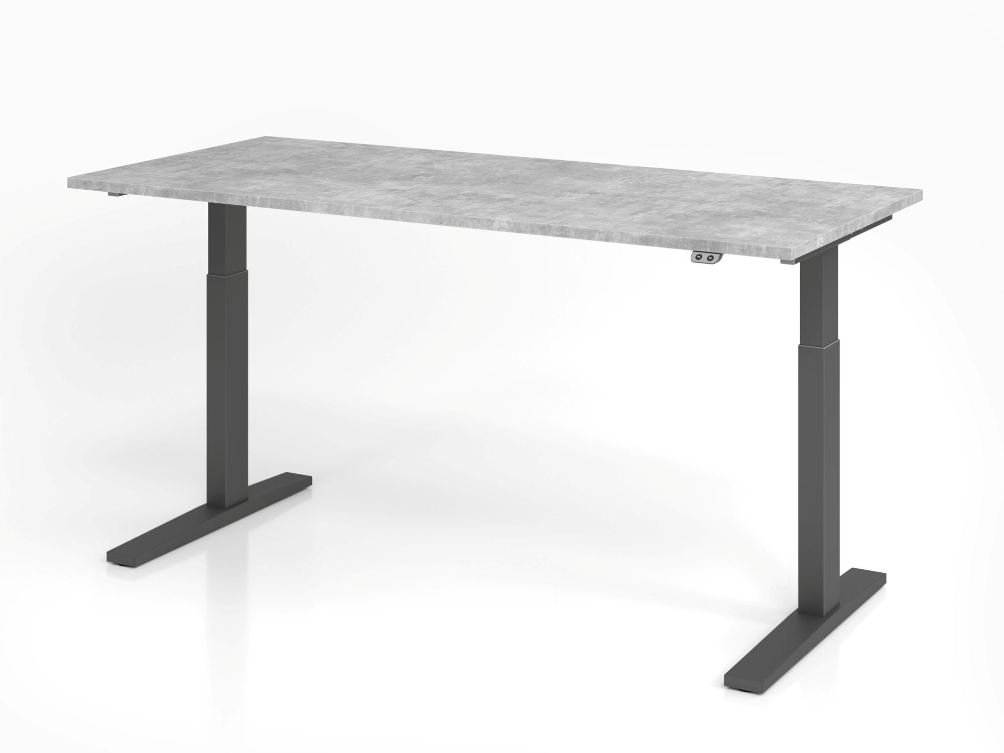 Sitz-Steh-Schreibtisch el. 180x80cm Beton