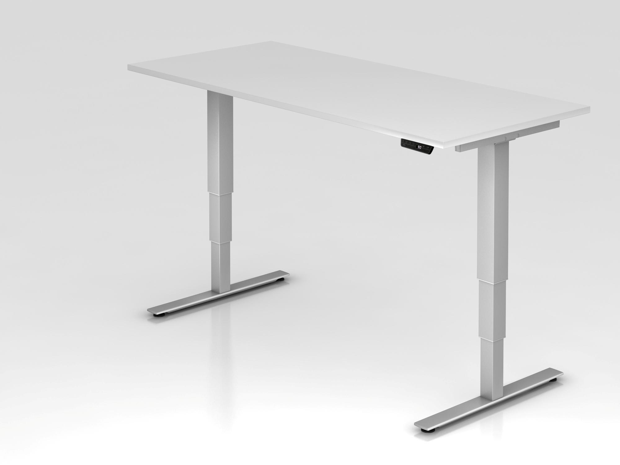 Sitz-Steh-Schreibtisch el.180x80cm Weiß