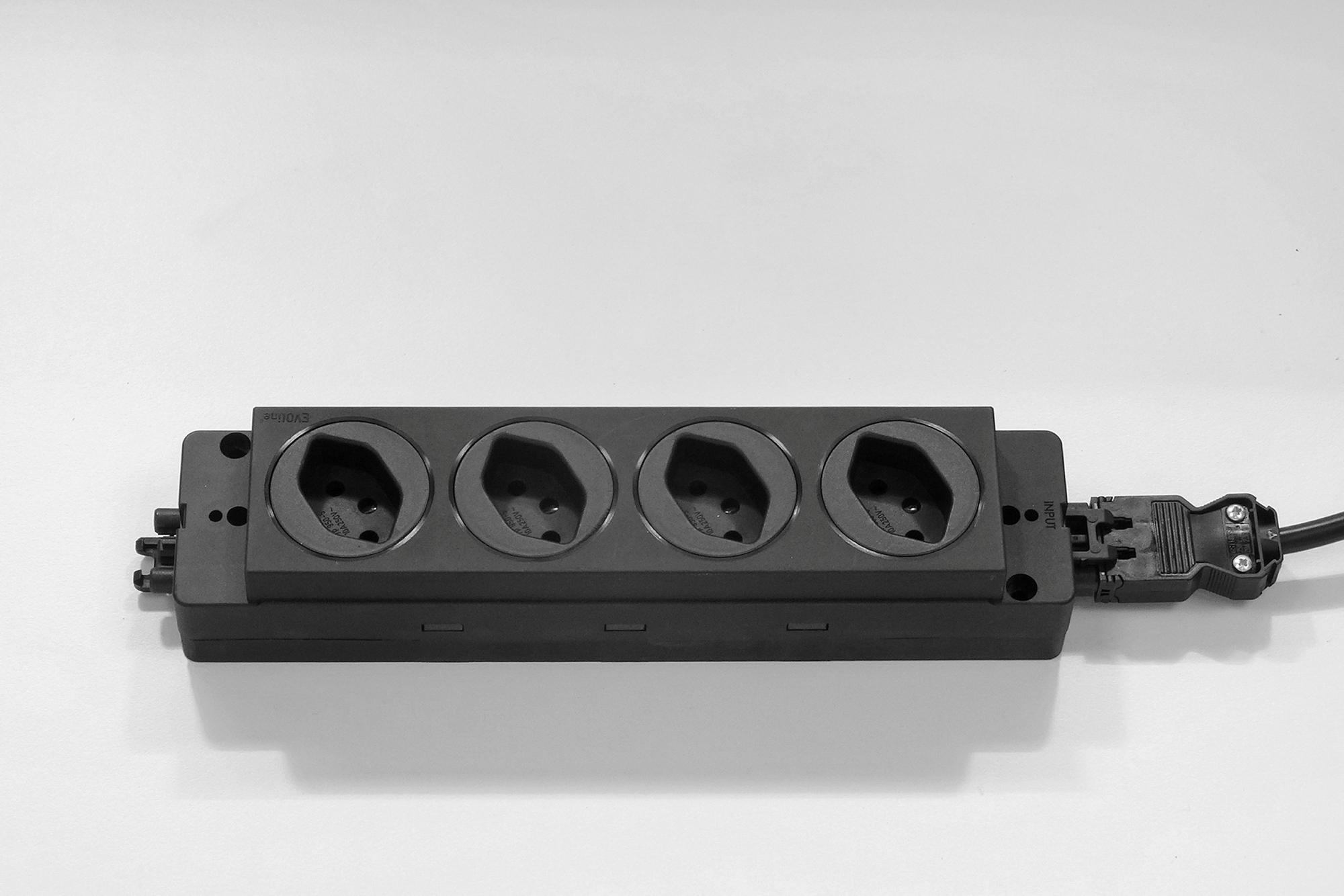 4-fach Steckdosenleiste mit 5m Kabel CH