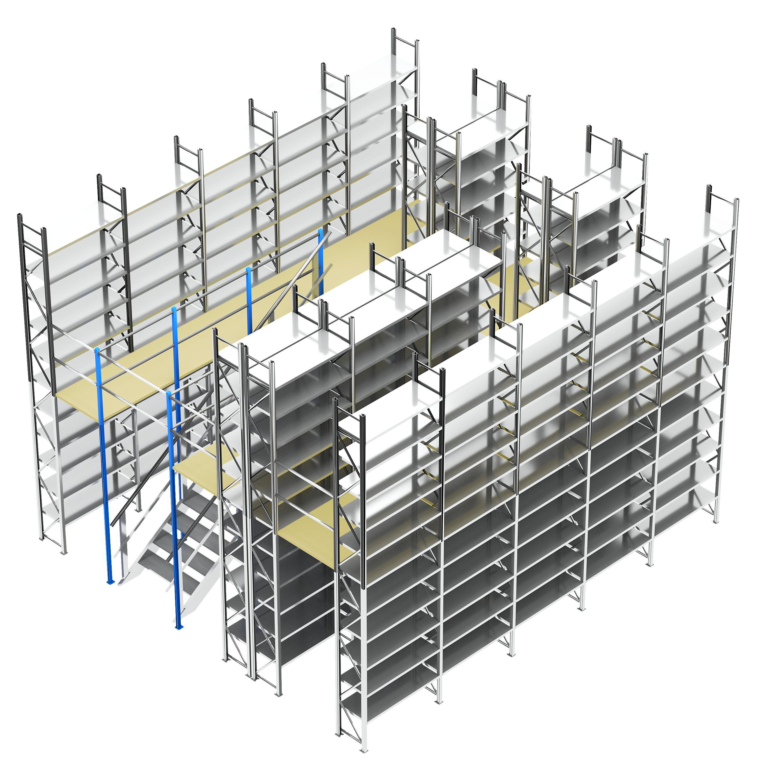 2-geschossiges Fachbodenregal mit 220 Fachböden