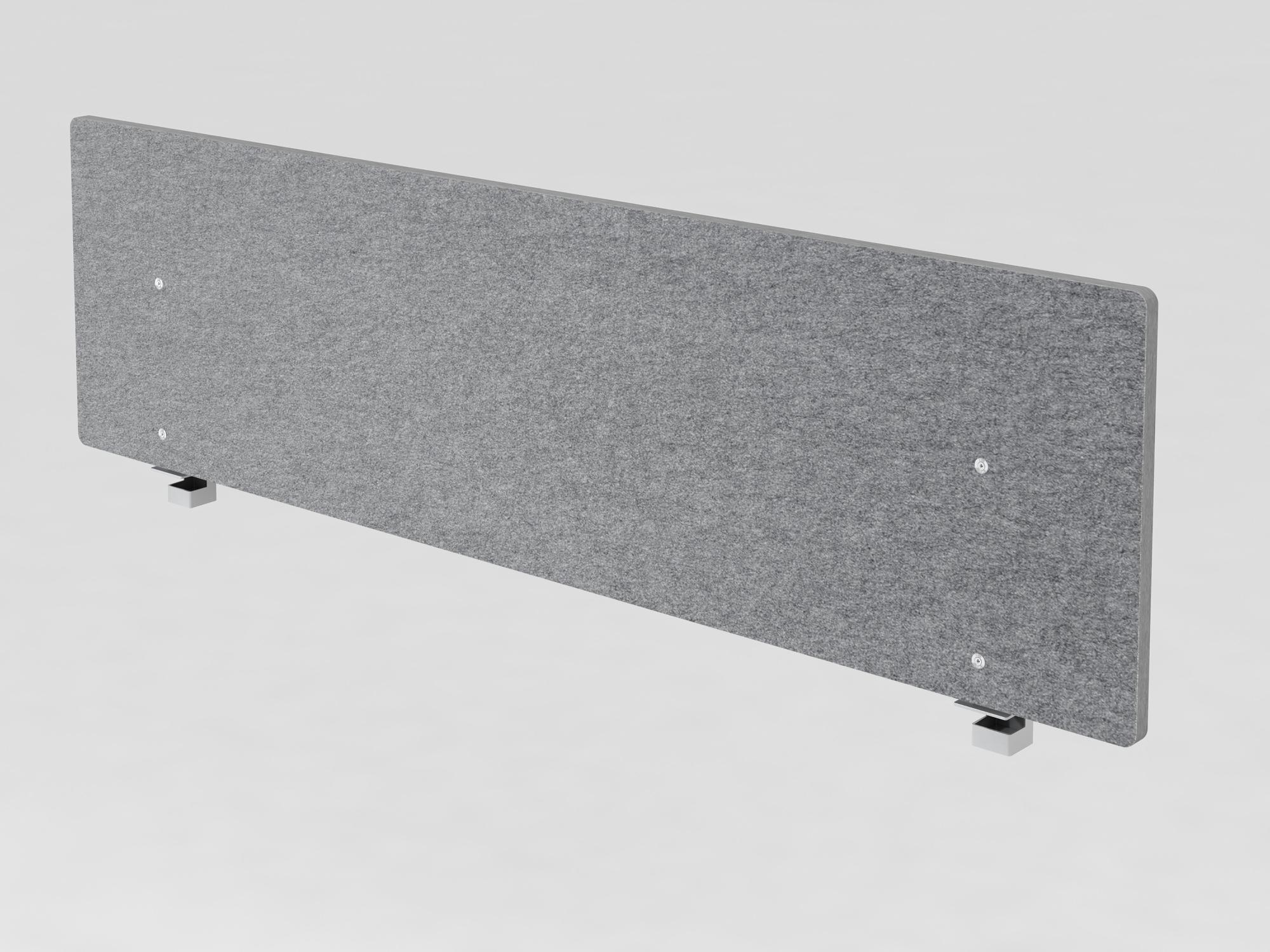 Akustik-Trennwand 180cm, grau-meliert