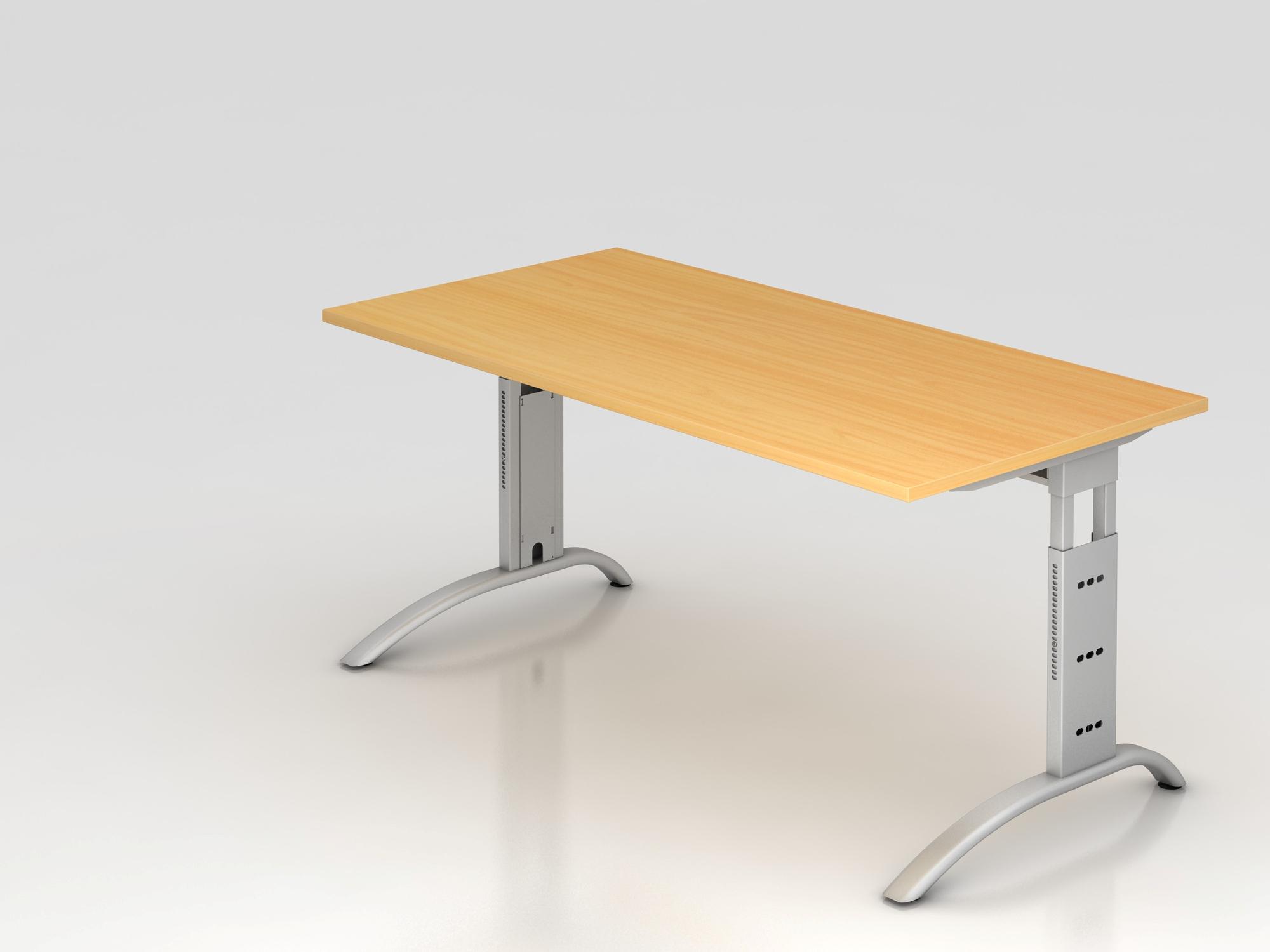 Schreibtisch C-Fuß 160x80cm Buche