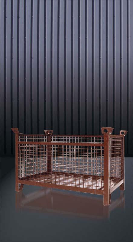 Gitterbox-Stapelpalette, 1315.1 RAL 8017