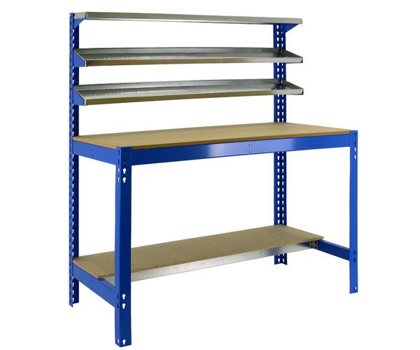 Stecksystem KIT SIMONWORK BT1 900 AZUL/MADERA Maße: 144,5x91x61 Traglast: 250kg/600kg Oberfläche: blau