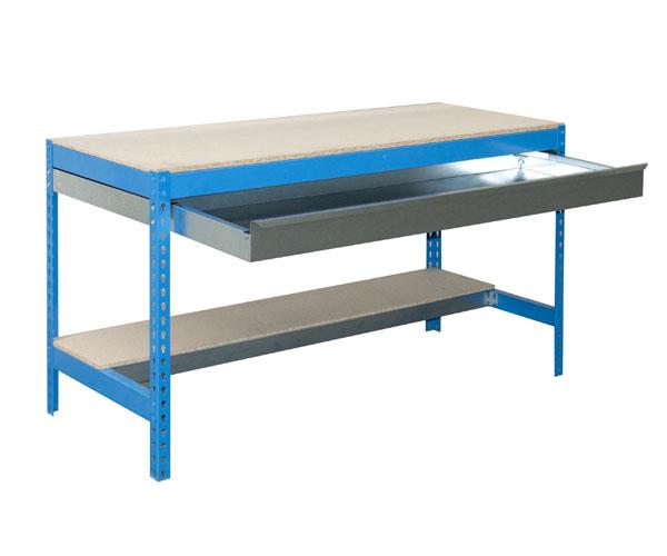 Stecksystem KIT SIMONWORK BT0 BOX 900 AZUL/MADERA Maße: 84x91x61 Traglast: 250kg/600kg Oberfläche: blau