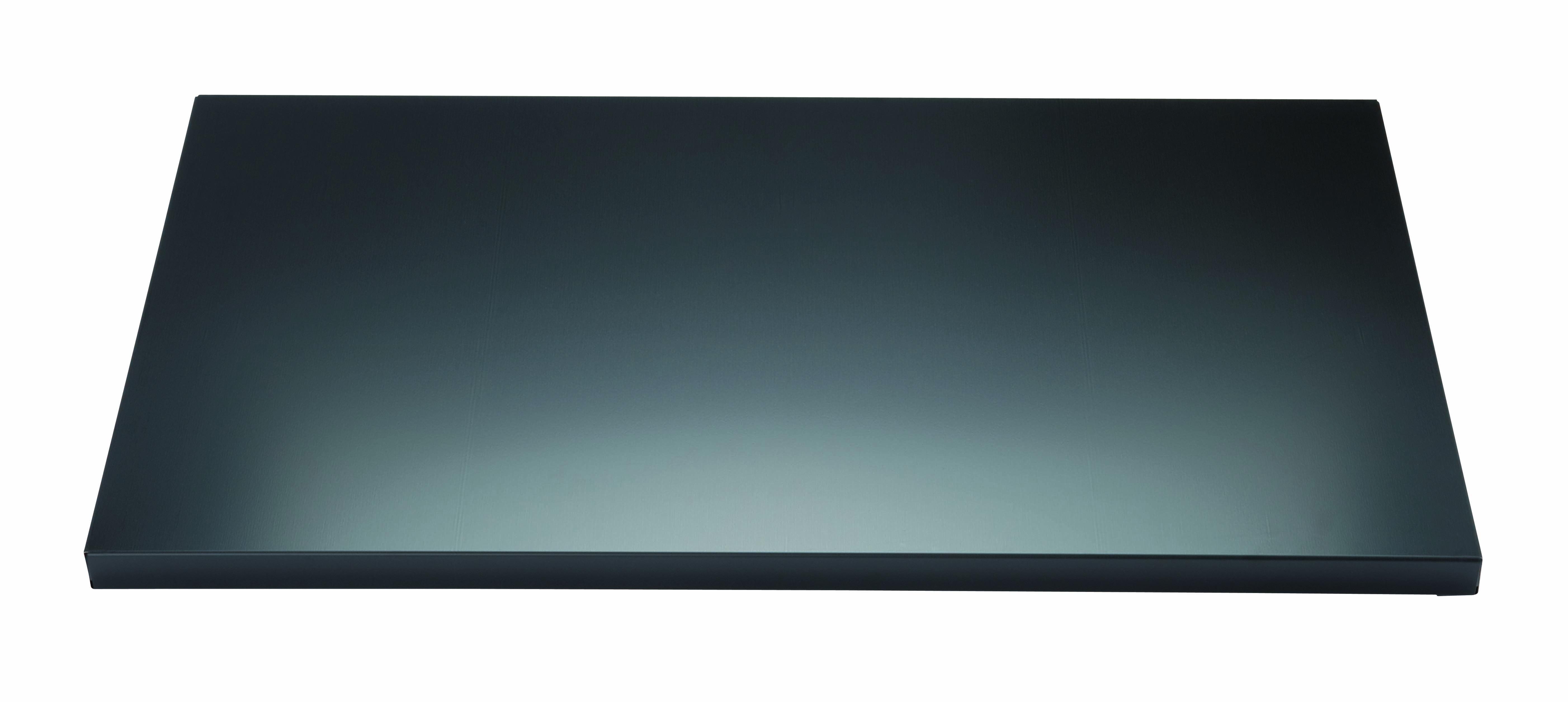 Fachboden mit Lateralhängevorrichtung für EuroTambour, B 800 mm, Farbe schwarz