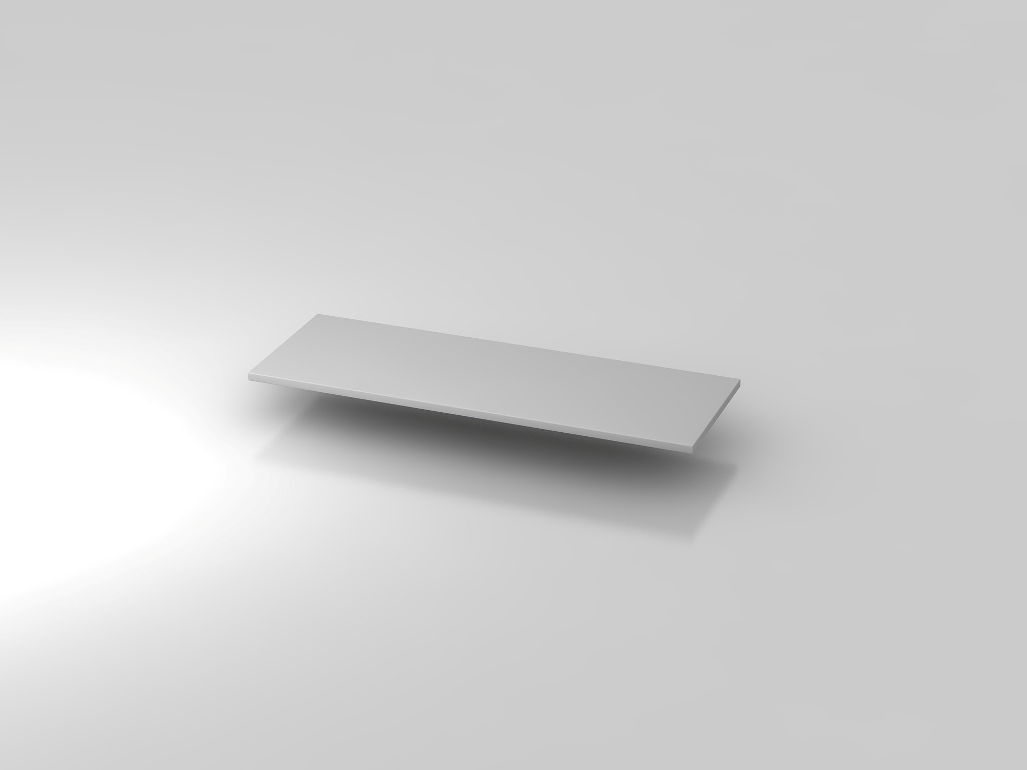 Abdeckplatte 120,5x43cm Grau