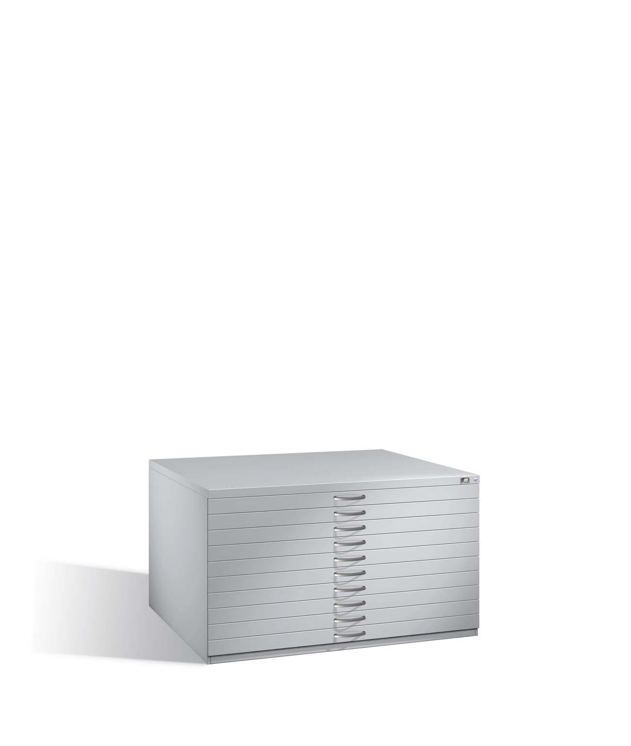 Flachablageschrank Serie 7100_7200, H760xB1350xT960mm