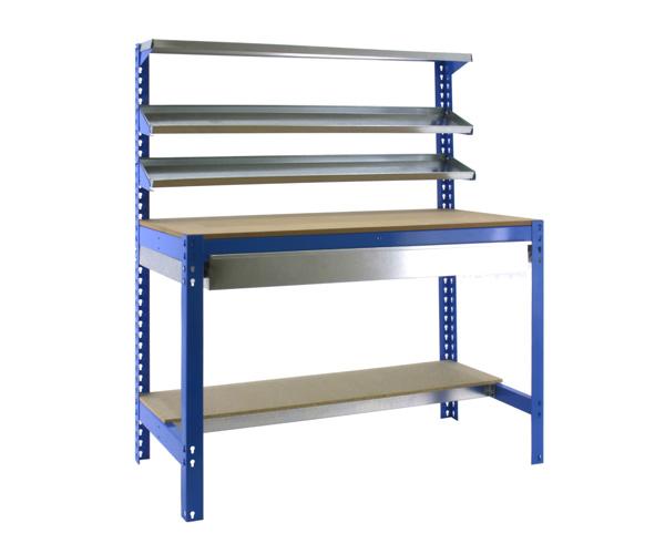 Stecksystem KIT SIMONWORK BT1 BOX 900 AZUL/MADERA Maße: 144,5x91x61 Traglast: 250kg/600kg Oberfläche: blau