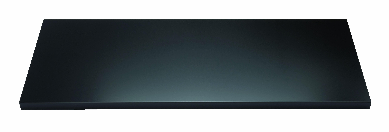 Fachboden mit Lateralhängevorrichtung für Flügeltürenschrank Universal, B 914 mm, Farbe schwarz