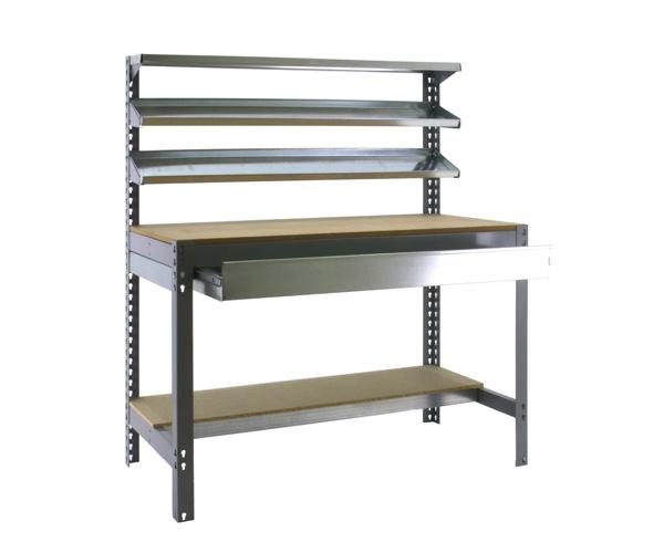 Stecksystem KIT SIMONWORK BT1 BOX 900 GRIS/MADERA Maße: 144,5x91x61 Traglast: 250kg/600kg Oberfläche: grau