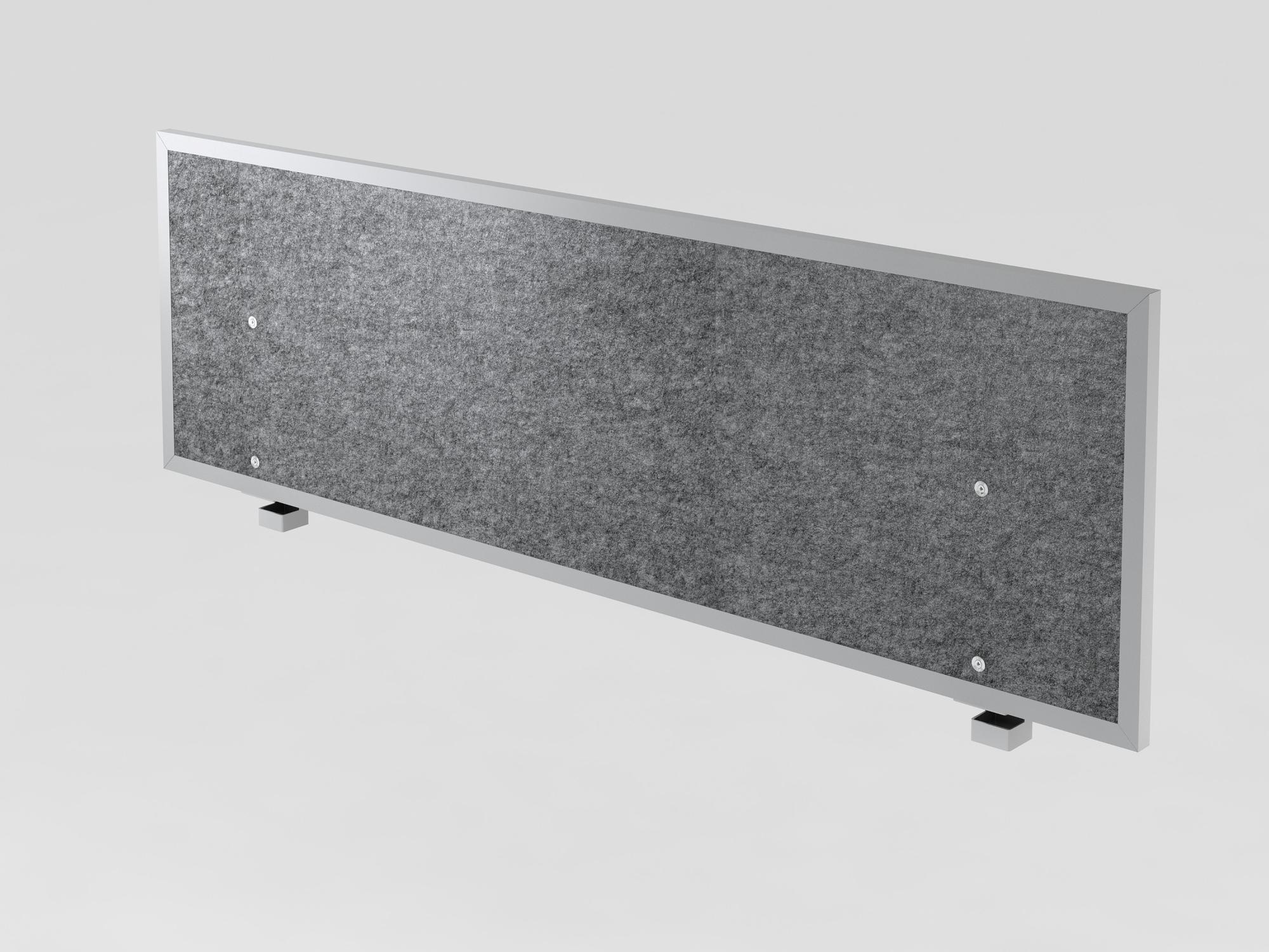 Akustik-Trennwand 160cm, grau-meliert