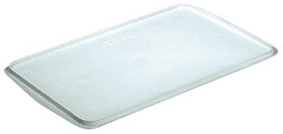 Deckel zu eckigem Behälter, PE, geeignet für 28, 50 und 96 Liter Behälter, Farbe weiß, VE 2 Stück