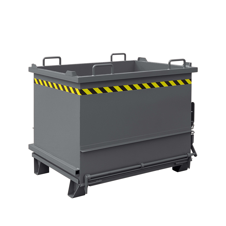 Baustoff-Container mit Klappboden, 2035.4 RAL 7016