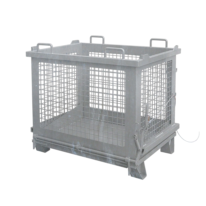 Gitterbehälter mit entriegelbarer Bodenklappe, 2037.12 verz.