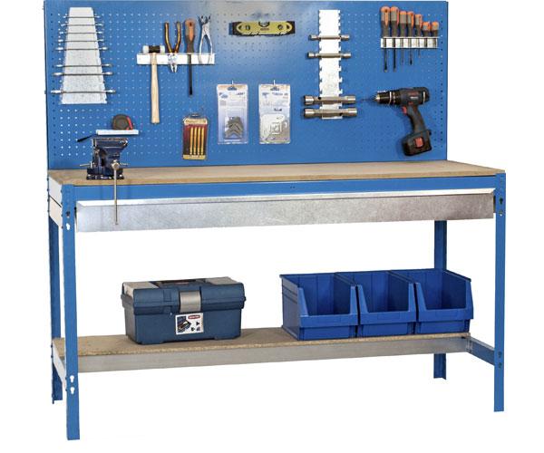 Stecksystem KIT SIMONWORK BT2 BOX 900 AZUL/MADERA Maße: 144,5x91x61 Traglast: 250kg/600kg Oberfläche: blau