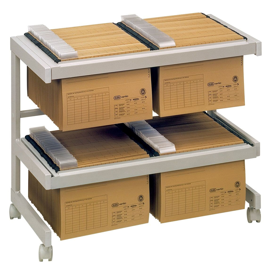 Bürowagen Grau 2 Hängeregister