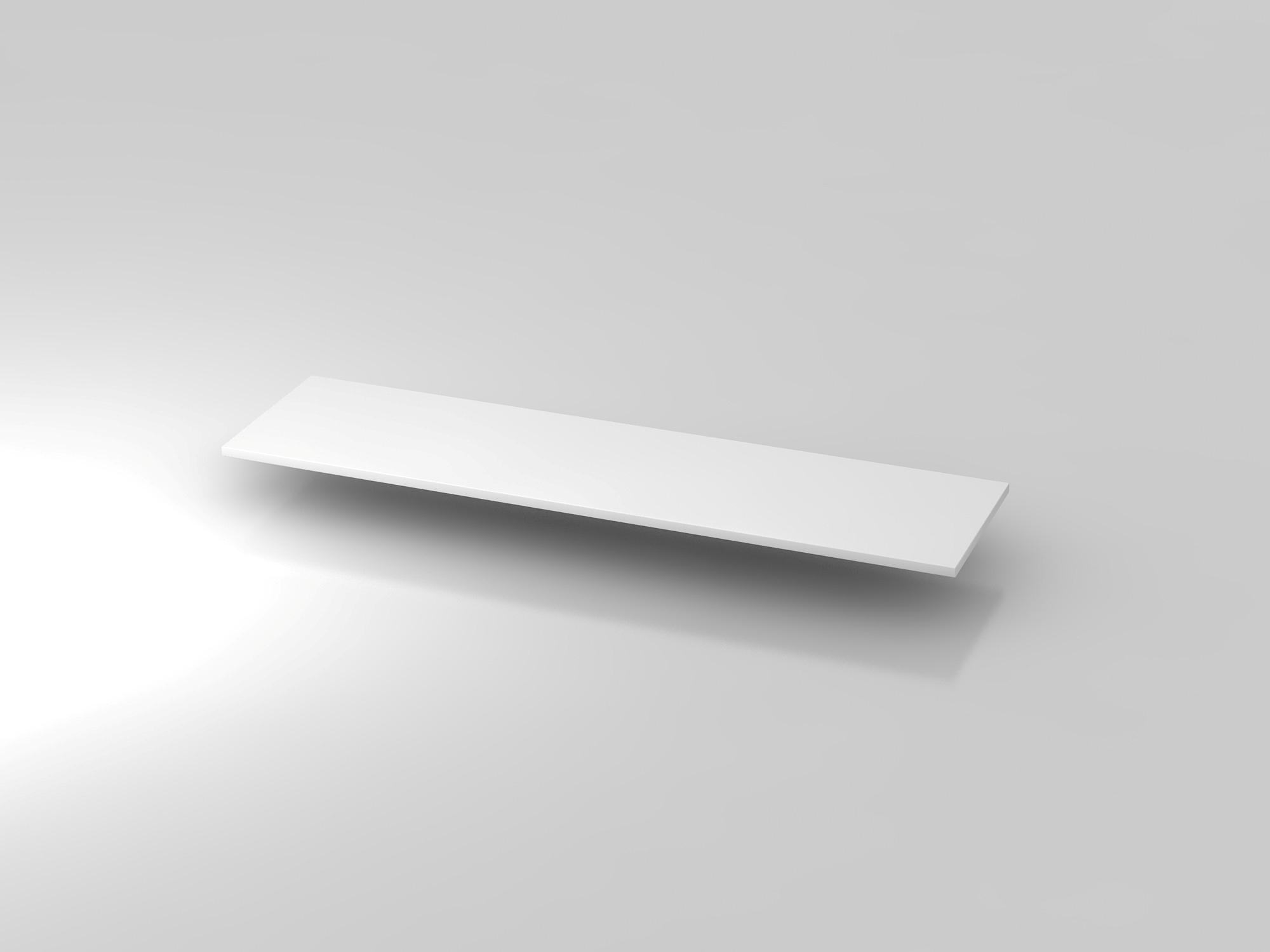Abdeckplatte 160,5x43cm Weiß