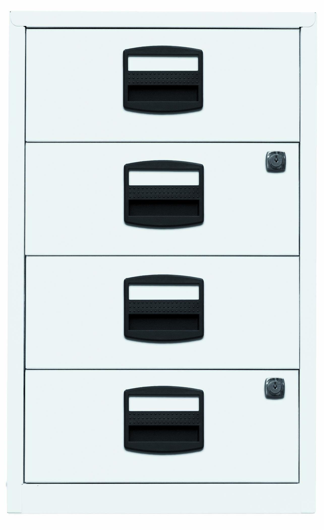 Beistellschrank PFA, 4 Universalschubladen, Farbe verkehrsweiß
