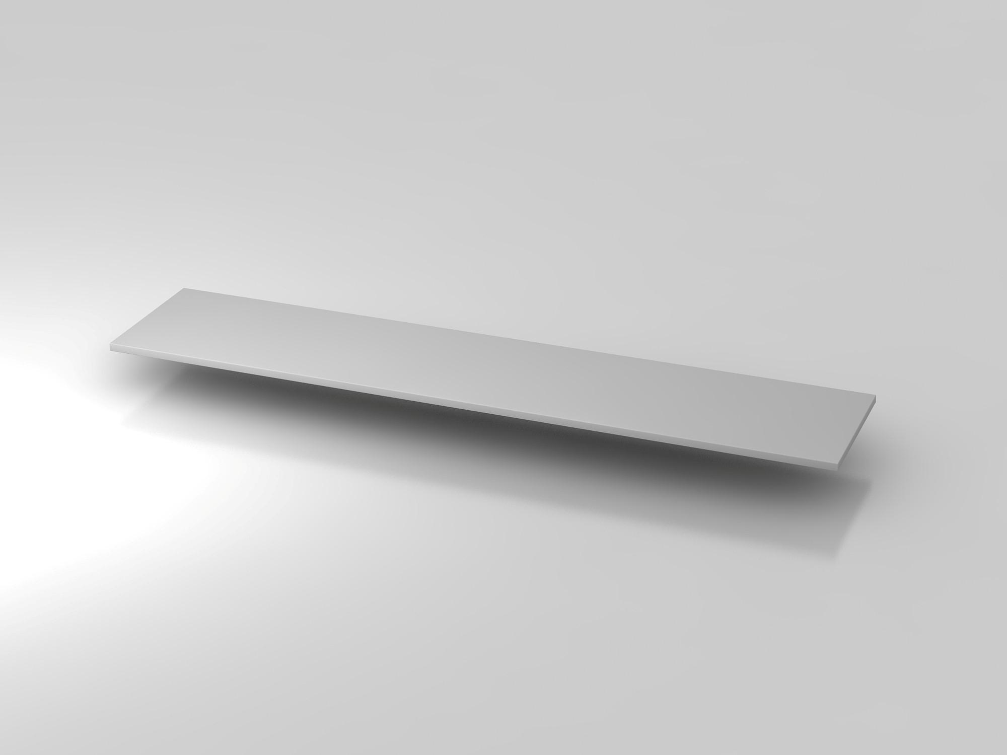 Abdeckplatte 200,5x43cm Grau