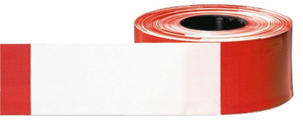 Absperrbänder Länge 500m rot/weiß