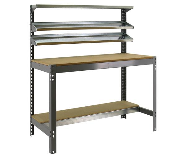 Stecksystem KIT SIMONWORK BT1 900 GRIS/MADERA Maße: 144,5x91x61 Traglast: 250kg/600kg Oberfläche: grau
