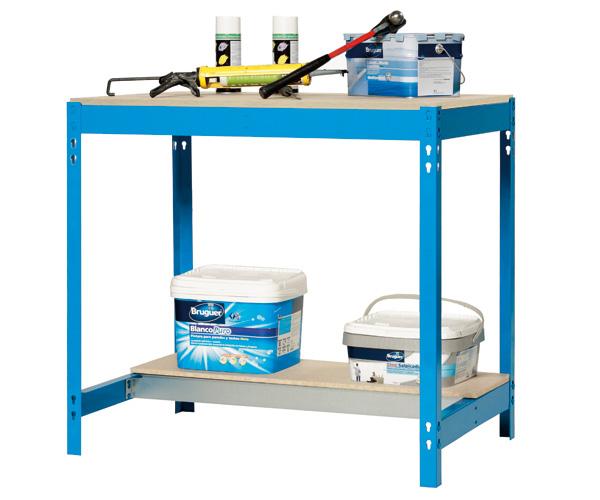 Stecksystem KIT SIMONWORK BT0 900 AZUL/MADERA Maße: 84x91x61 Traglast: 250kg/600kg Oberfläche: blau