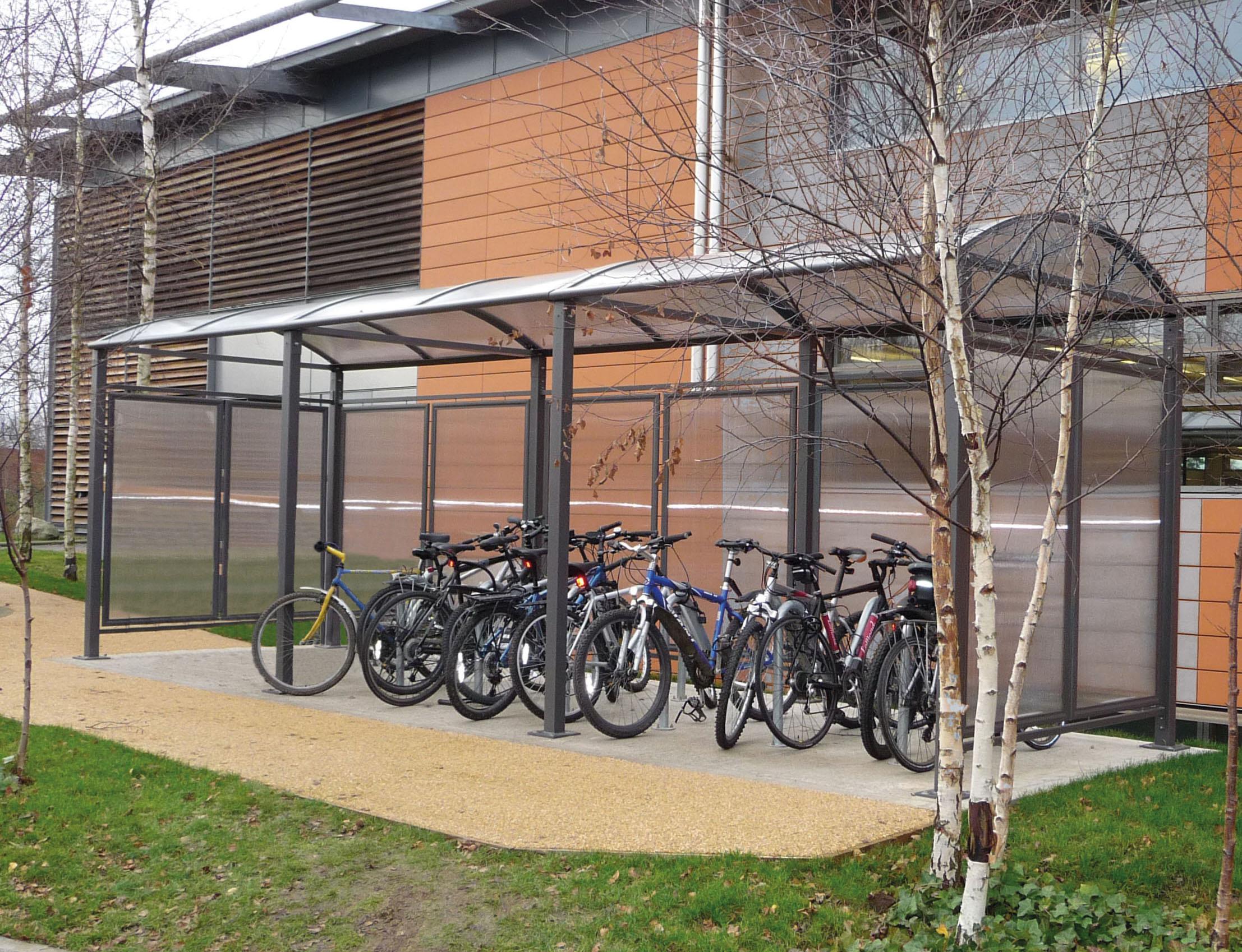 Fahrradüberdachung Vierkantrohr