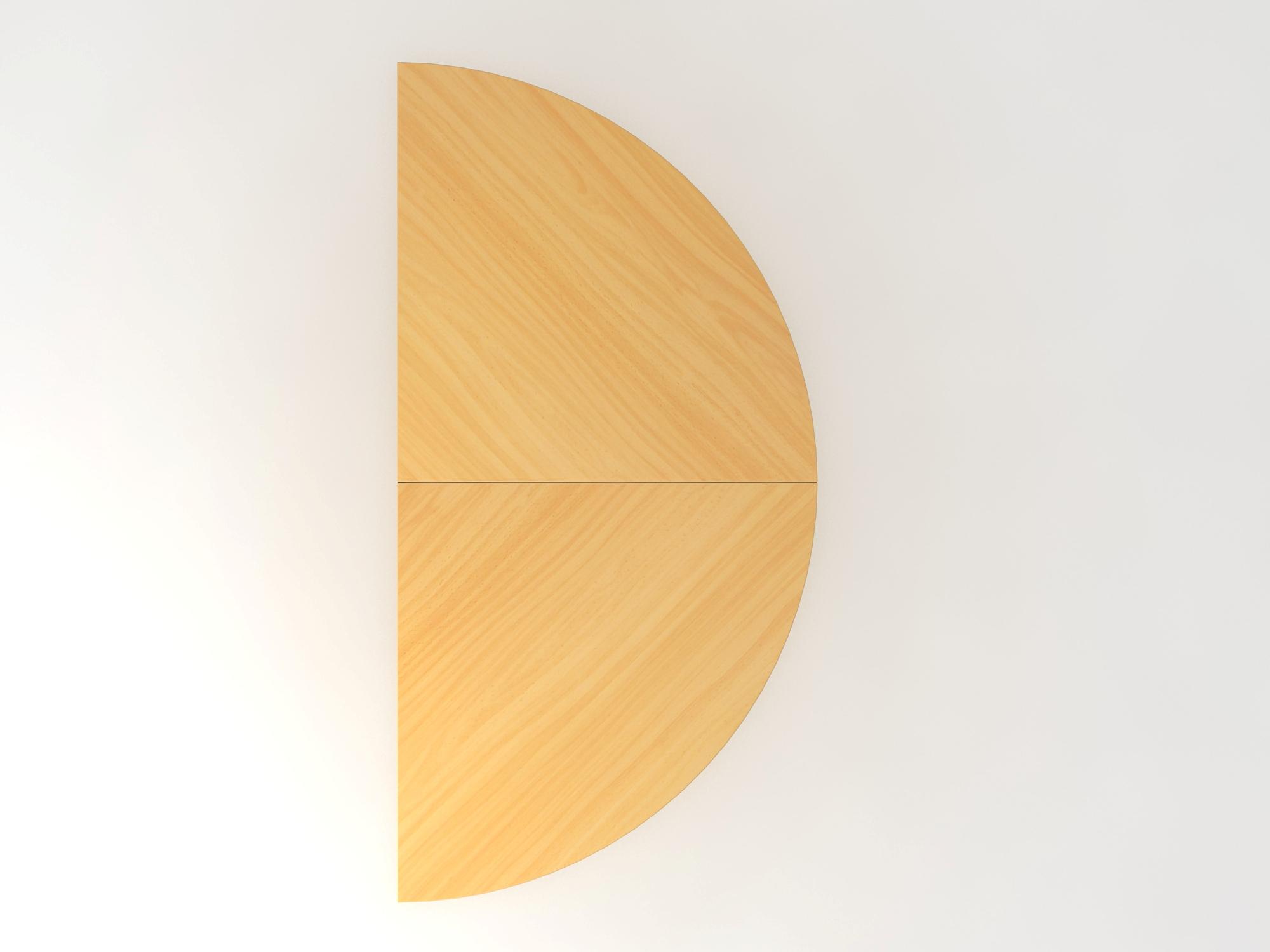 Anbautisch 2xViertelkreis/STF Buche/Silber