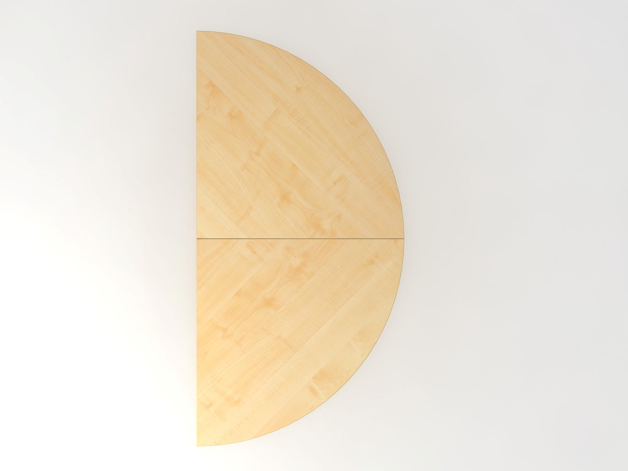 Anbautisch 2xViertelkreis/STF Ahorn/Graphit