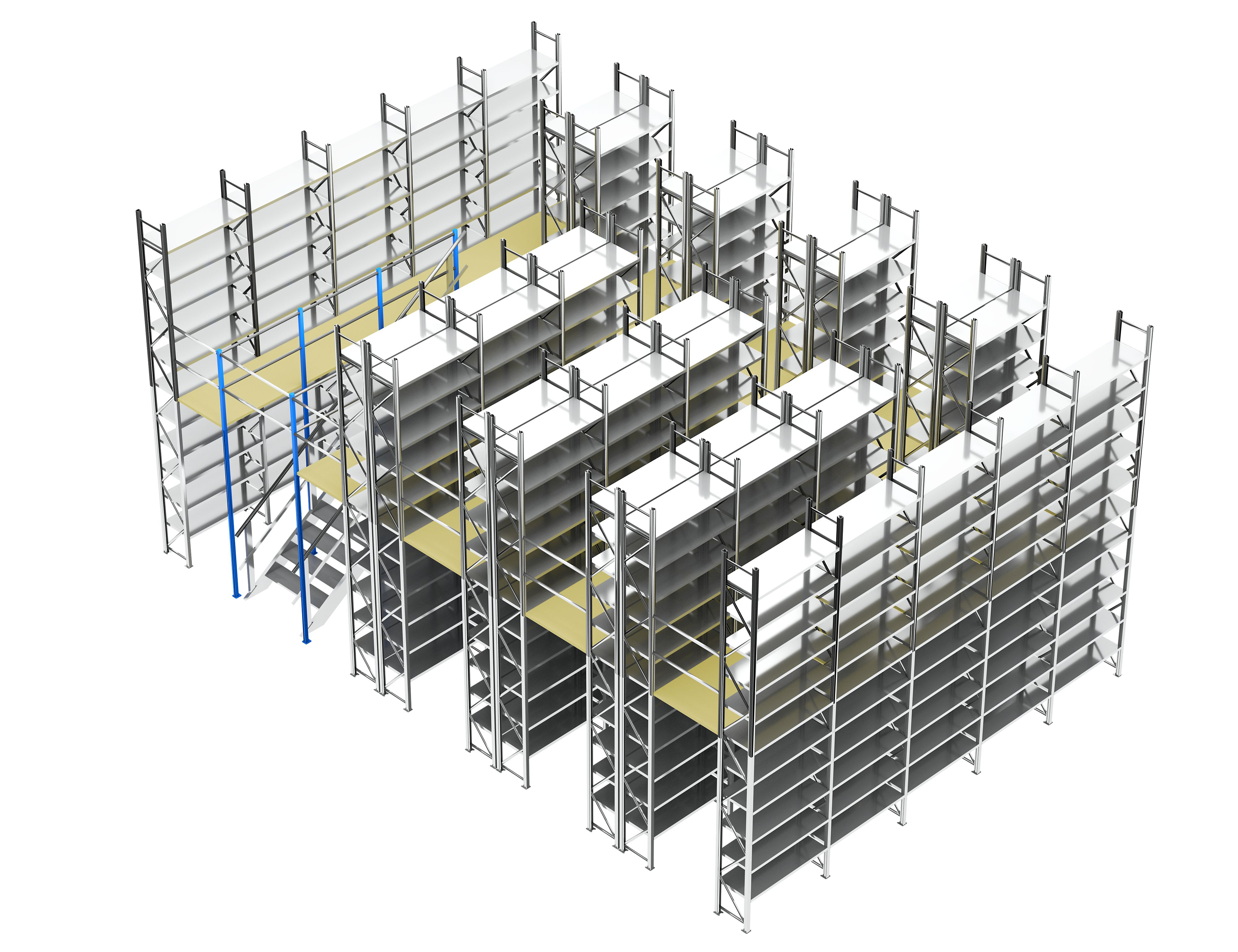 2-geschossiges Fachbodenregal mit 400 Fachböden