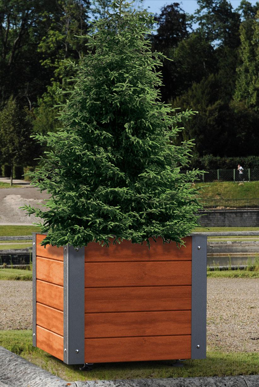 Pflanzbehälter Silaos® Aus Stahl & Holz