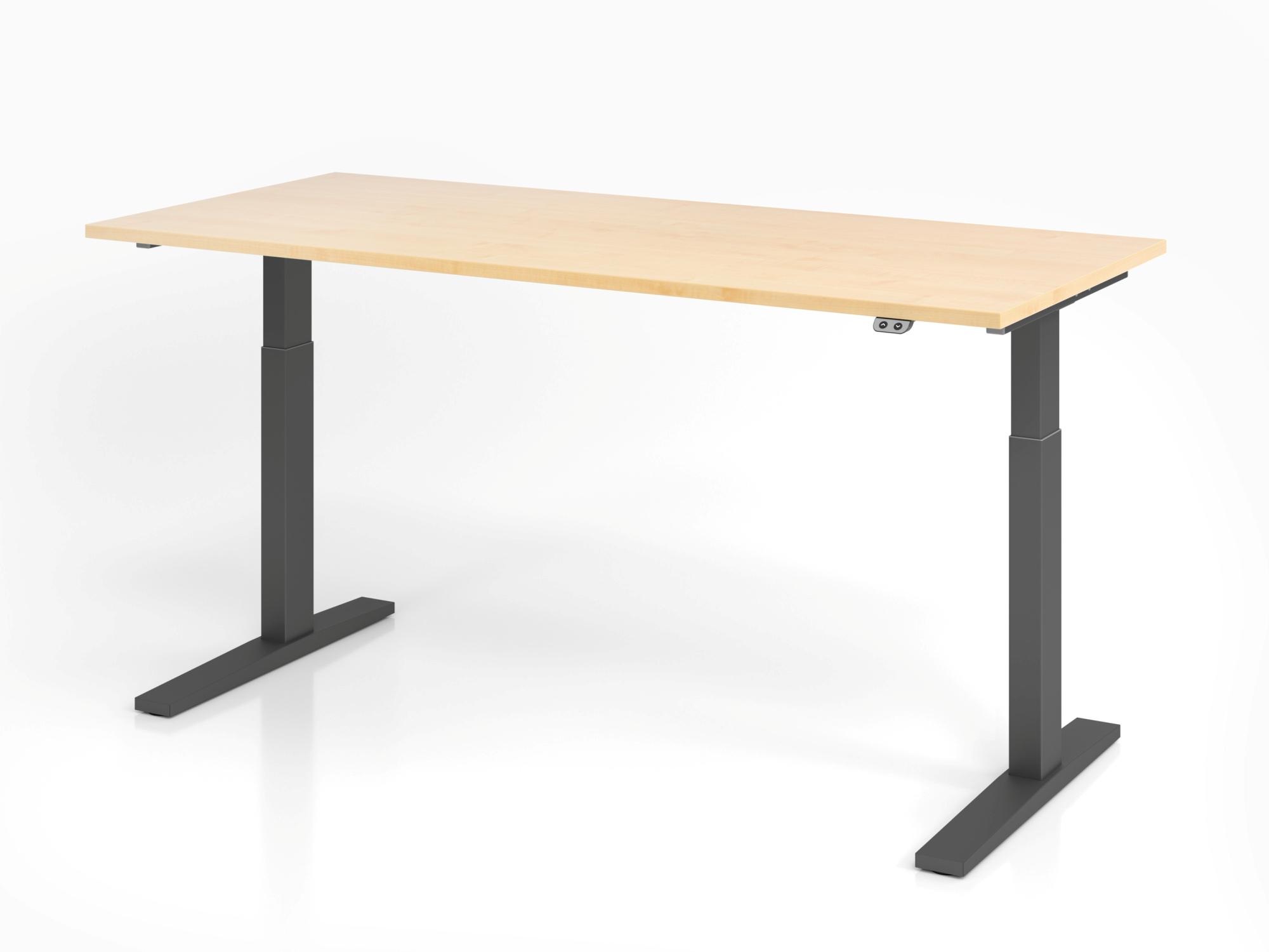 Sitz-Steh-Schreibtisch el. 180x80cm Ahorn