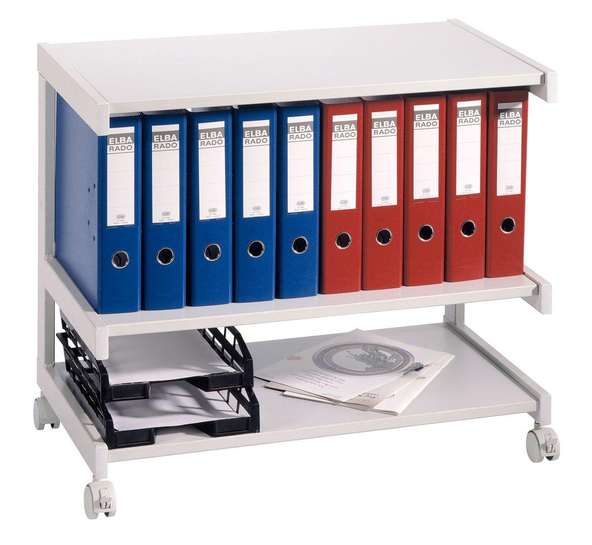 Bürowagen Grau mit 3 Böden