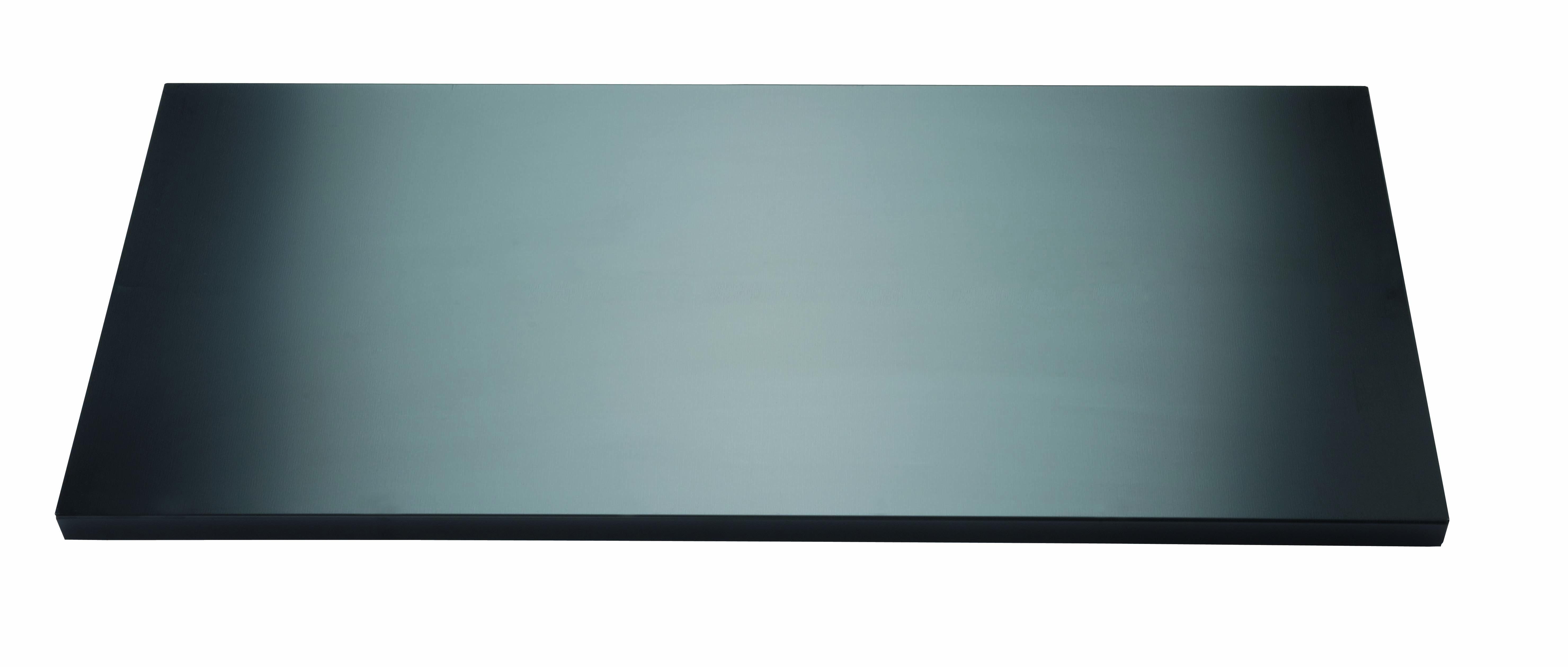 Fachboden mit Lateralhängevorrichtung für EuroTambour, B 1000 mm, Farbe schwarz