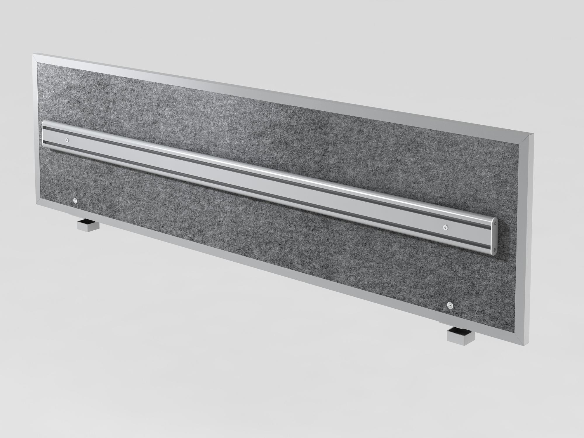 Akustik-ORGAwand 180cm, Grau-meliert