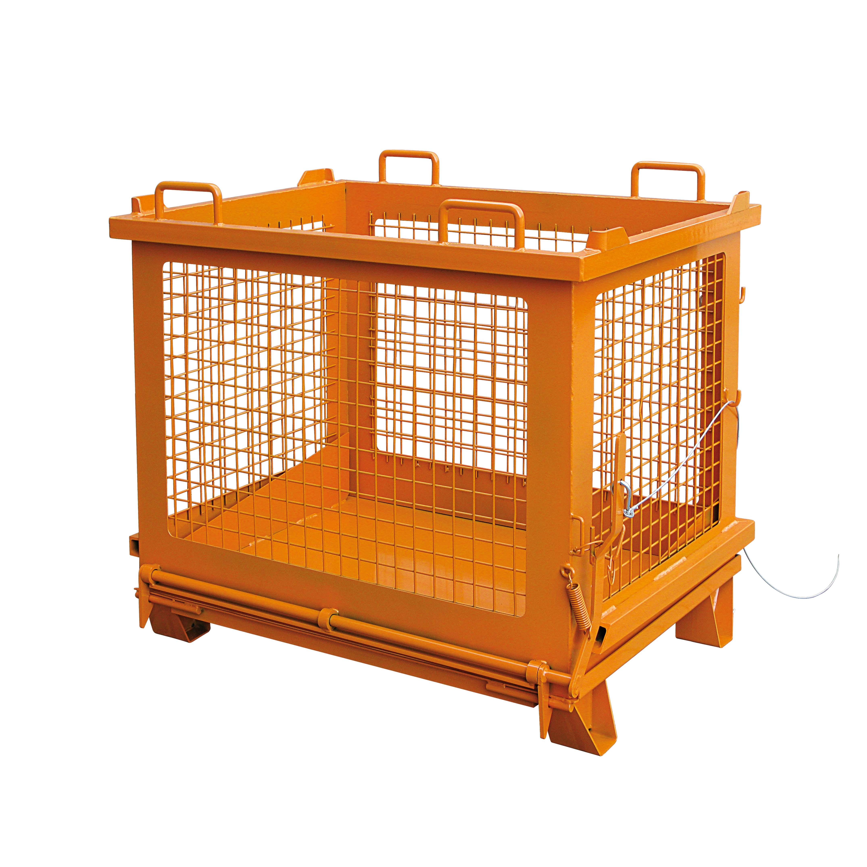 Gitterbehälter mit entriegelbarer Bodenklappe, 2037.12 RAL 2004
