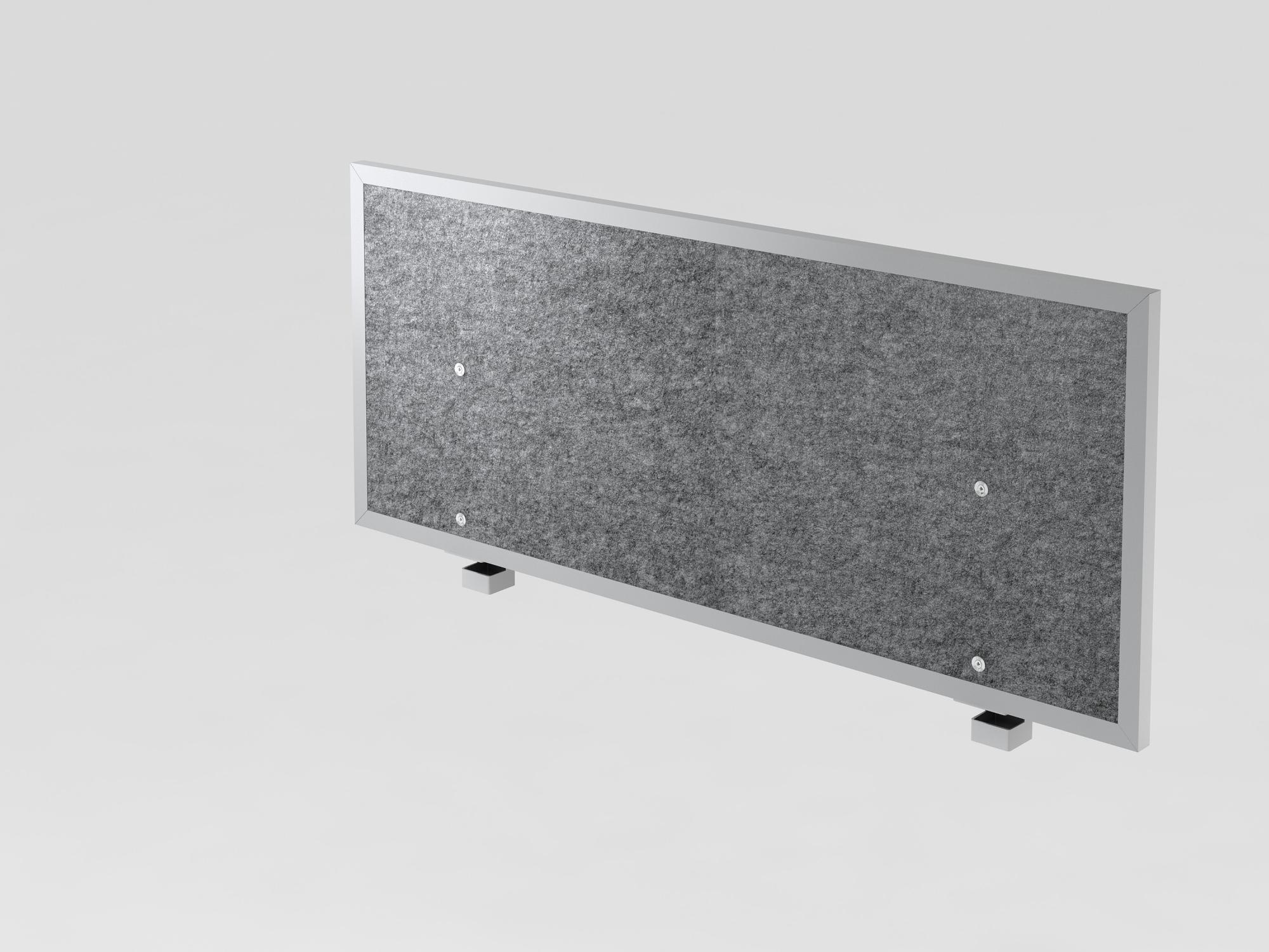 Akustik-Trennwand 120cm, grau-meliert