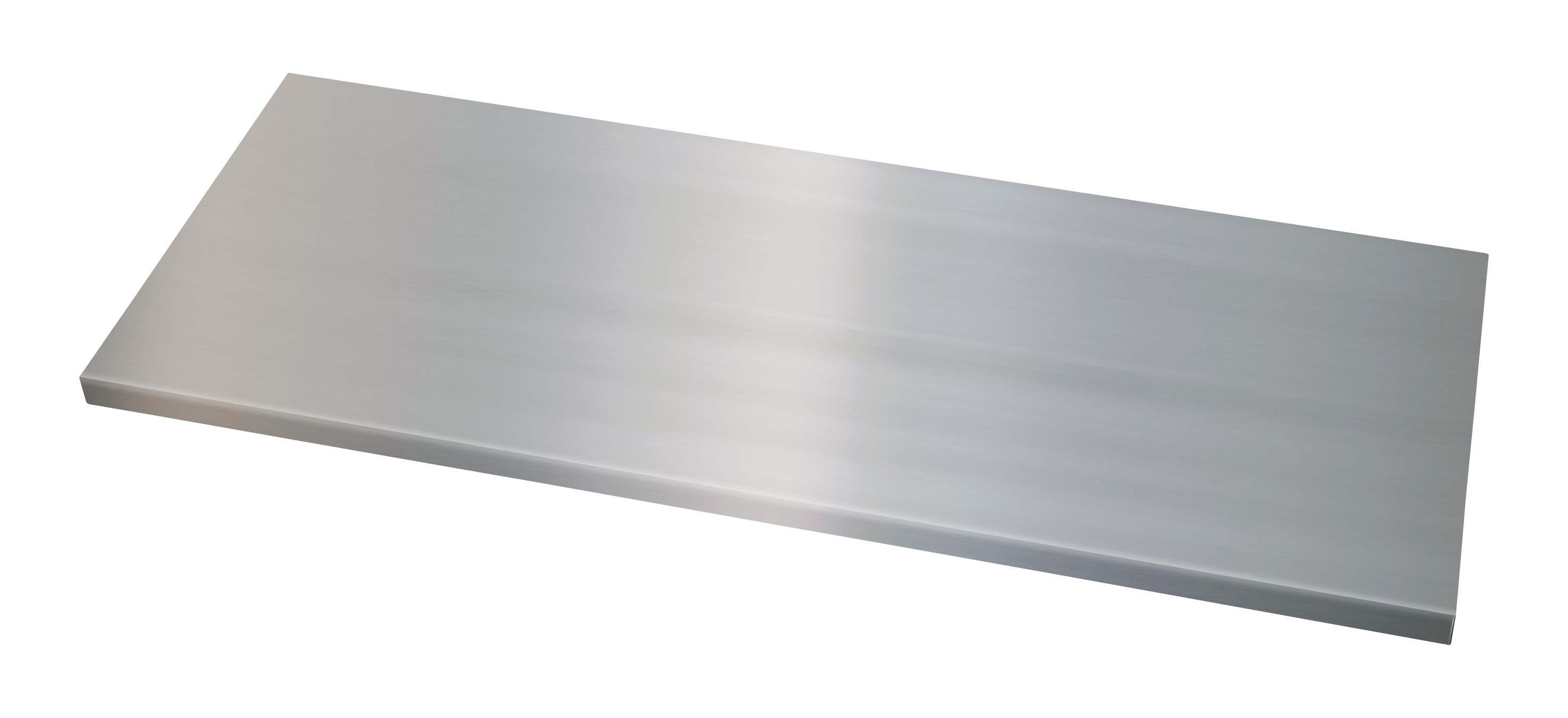 Fachboden mit Lateralhängevorrichtung für Flügeltürenschrank Universal, B 914 mm, T 500 mm, verzinkt