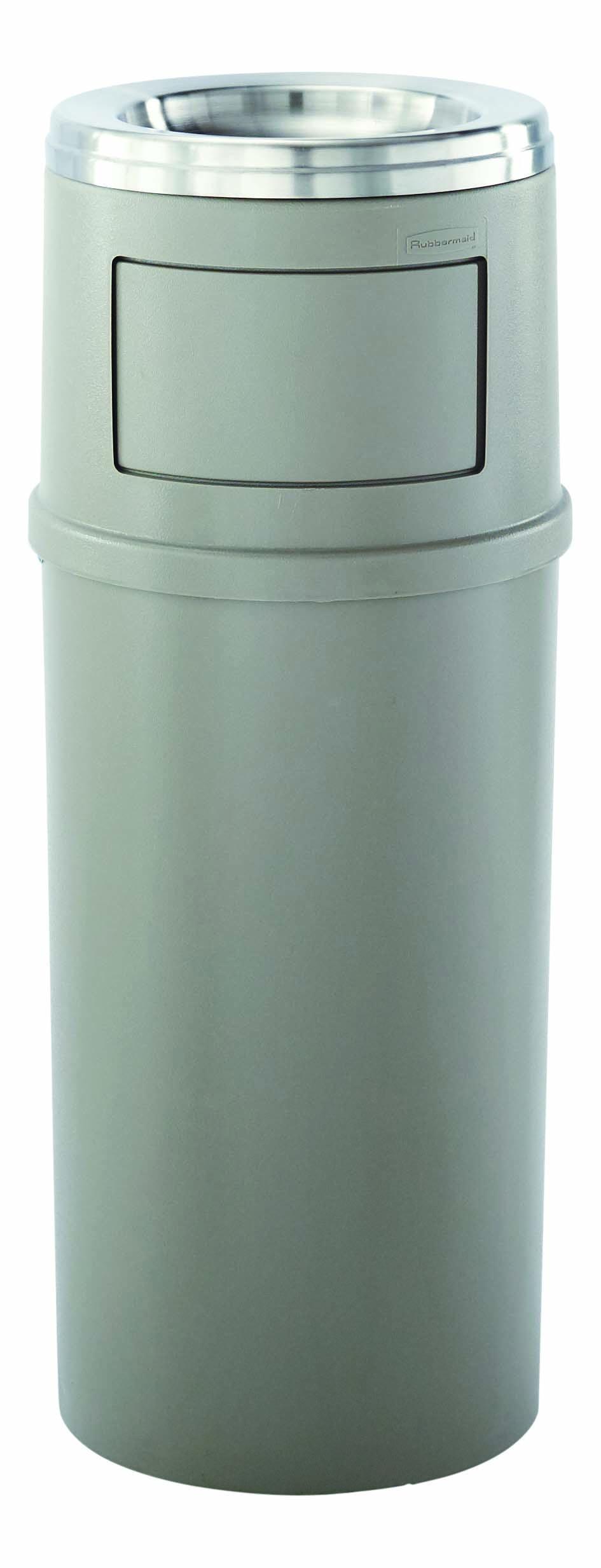 Abfallbehälter mit Ascher 56,8 l