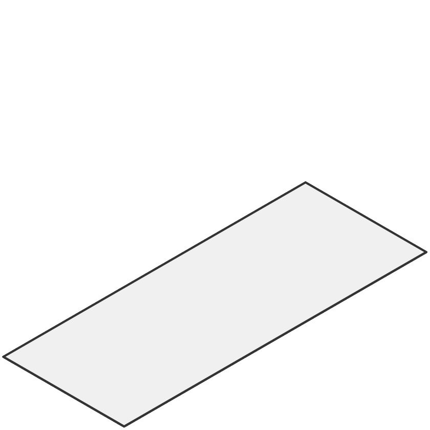 -Platte 2000.0x496.0x 1.0PP gr