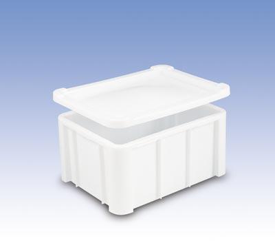 Euronormbehälter, Polyethylen, glatter Boden, Vol. 140 l, Außen-/Innennmaße LxBxH 800x600x405/720x515x400 mm