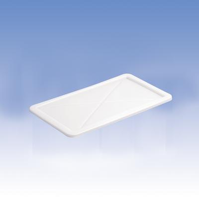 Deckel zu eckigen Behältern LxB 525x455 mm, Farbe grau