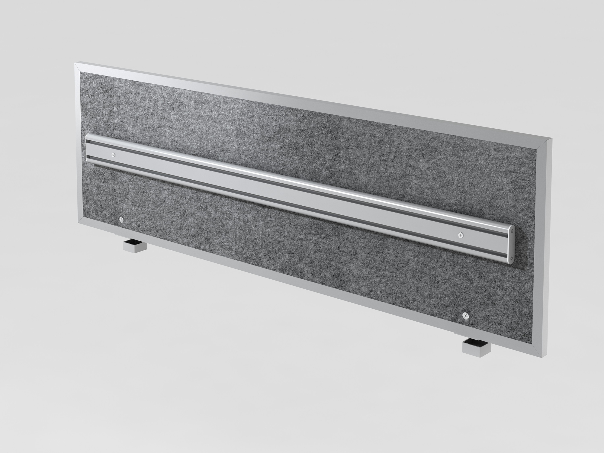 Akustik-ORGAwand 160cm, Grau-meliert